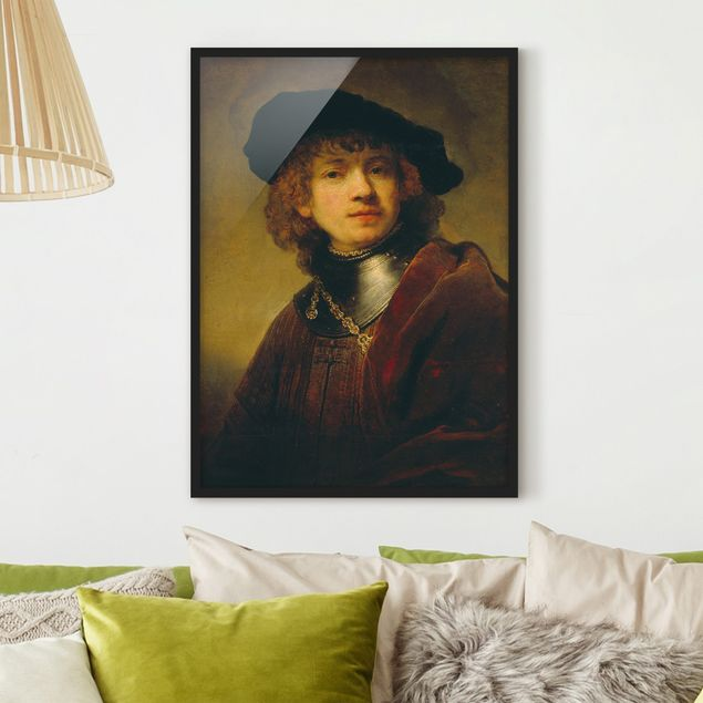 Bild mit Rahmen - Rembrandt van Rijn - Selbstbildnis - Hochformat 3:4