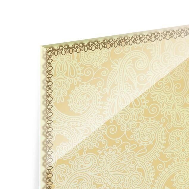 Glas Spritzschutz - Stamp Pattern - Quadrat - 1:1