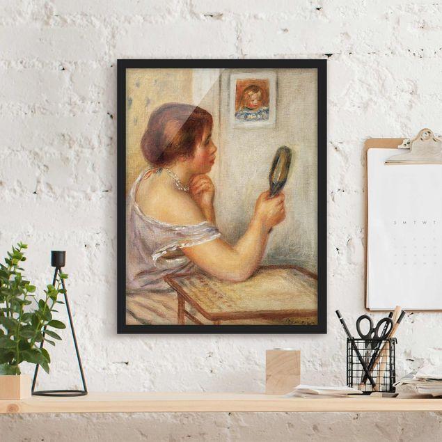 Bild mit Rahmen - Auguste Renoir - Gabrielle mit Spiegel - Hochformat 3:4