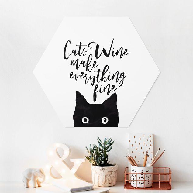 Hexagon Bild Forex - Cats and Wine make everything fine
