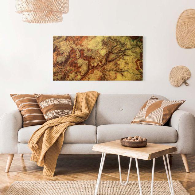 Leinwandbild Gold - Farbenpracht von Utah - Querformat 2:1