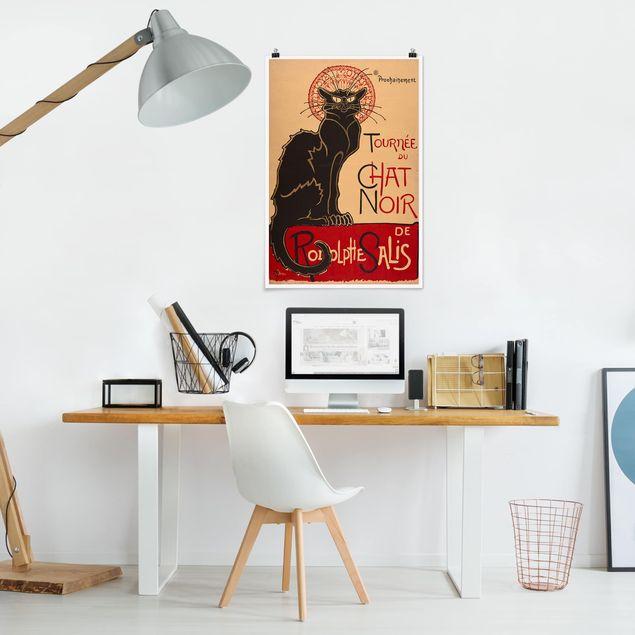 Poster - Théophile-Alexandre Steinlen - Der schwarze Kater - Hochformat 3:2