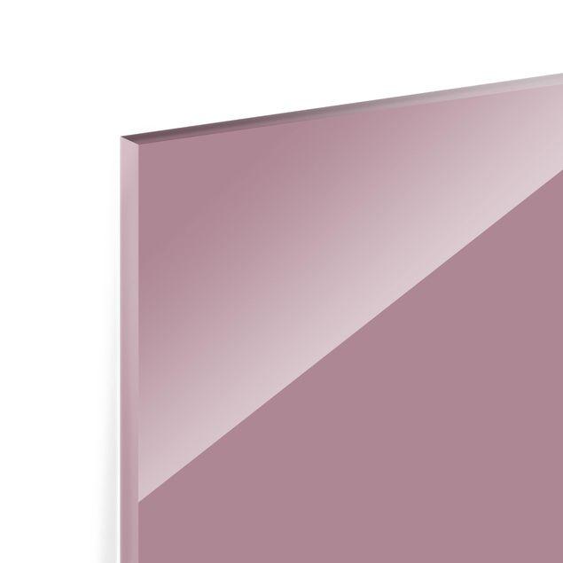 Glas Spritzschutz - Malve - Querformat - 4:3