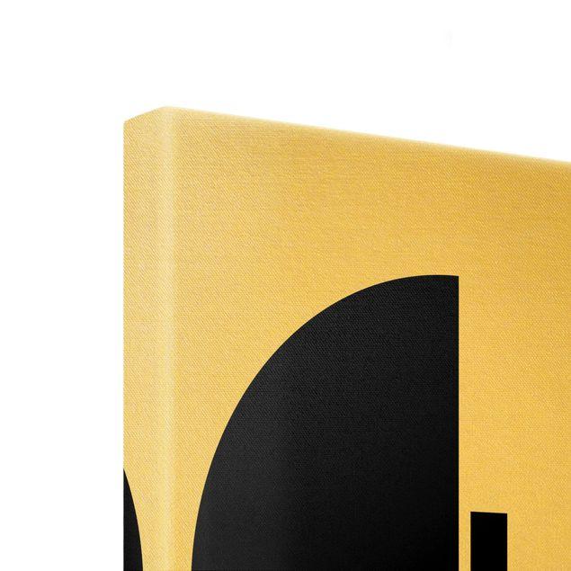 Leinwandbild Gold - Geometrischer Halbkreis I - Hochformat 1:2