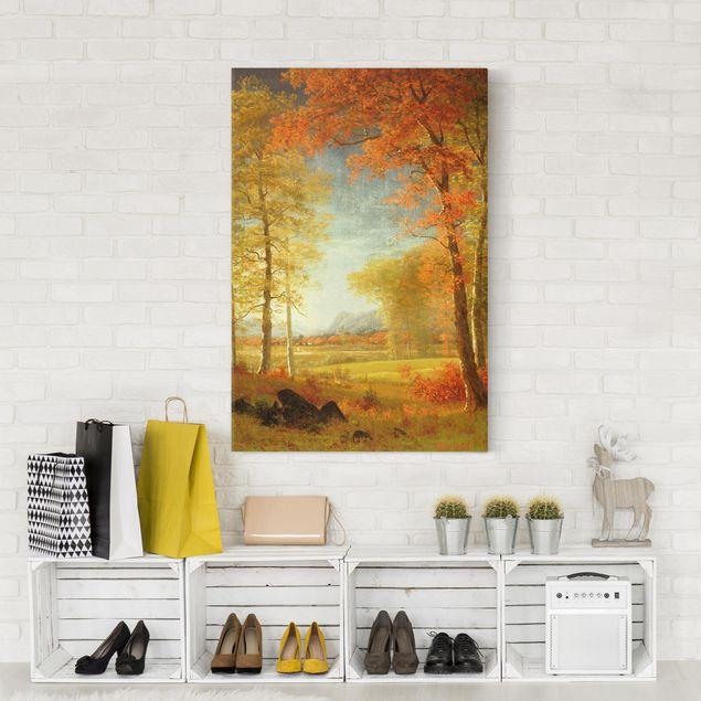 Leinwandbild - Albert Bierstadt - Herbst in Oneida County, New York - Hochformat 3:2