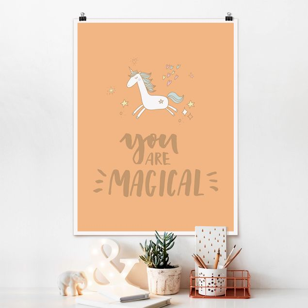 Poster - You are magical Unicorn - Hochformat 3:4