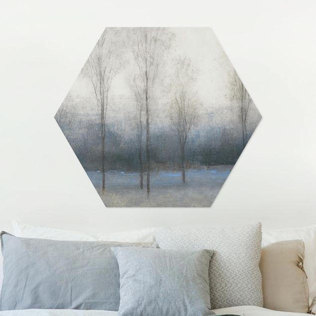 Hexagon Bild Alu-Dibond - Letzter Herbsttag I