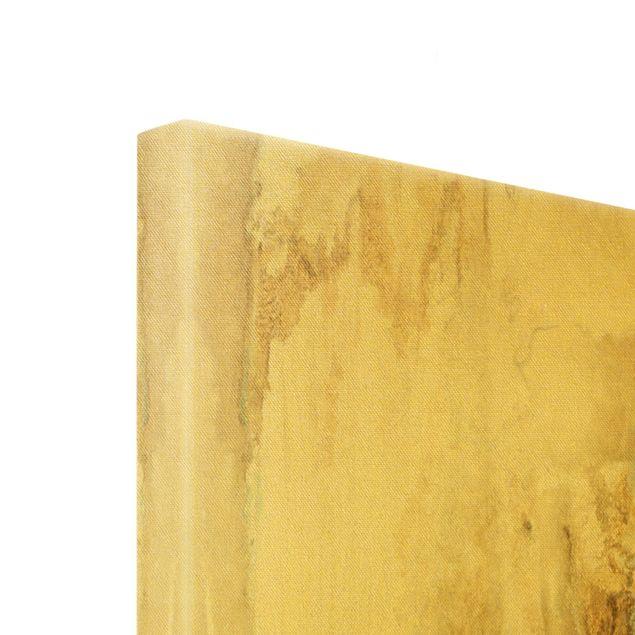 Leinwandbild Gold - Goldener Treibsand II - Querformat 4:3
