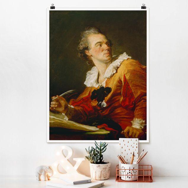 Poster - Jean Honoré Fragonard - Die Inspiration - Hochformat 3:4