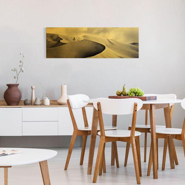 Leinwandbild Gold - Im Süden der Sahara - Panorama 3:1