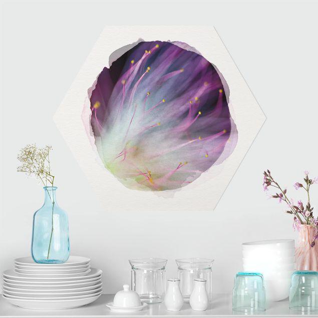 Hexagon Bild Forex - Wasserfarben - Blütenstaub
