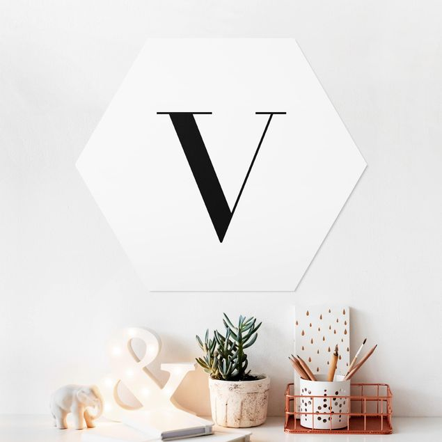 Hexagon Bild Forex - Buchstabe Serif Weiß V