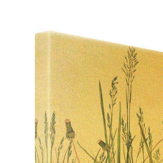 Leinwandbild Gold - Albrecht Dürer - Das große Rasenstück - Hochformat 2:3