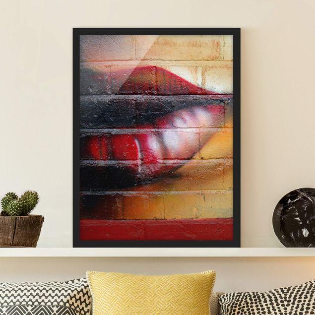 Bild mit Rahmen - Show me Lips - Hochformat 3:4