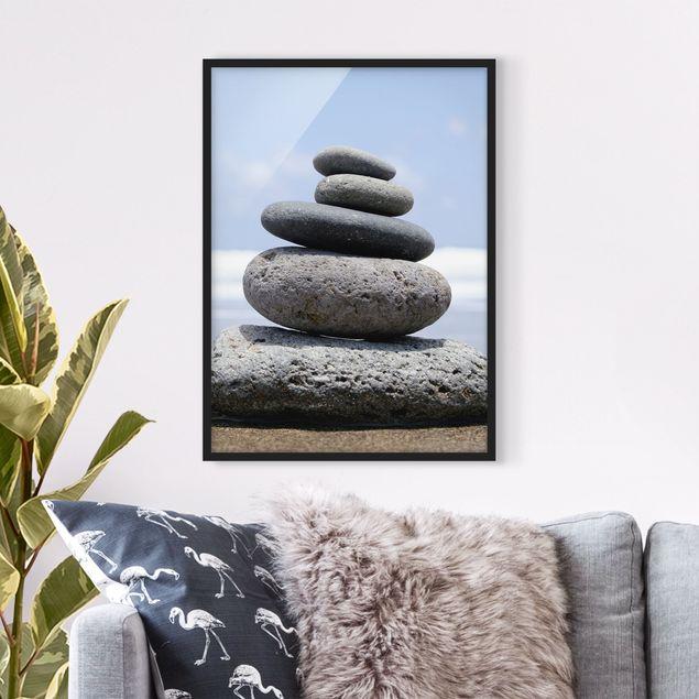 Bild mit Rahmen - Sand Stones - Hochformat 3:4