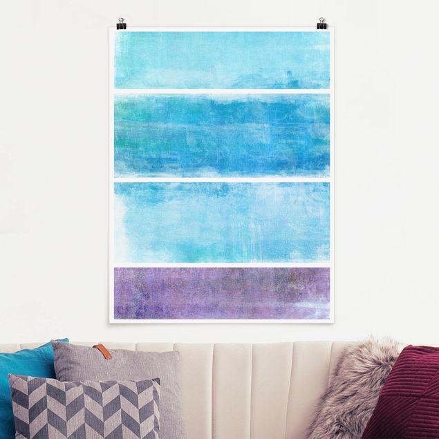 Poster - Colour Harmony Blue - Hochformat 3:4