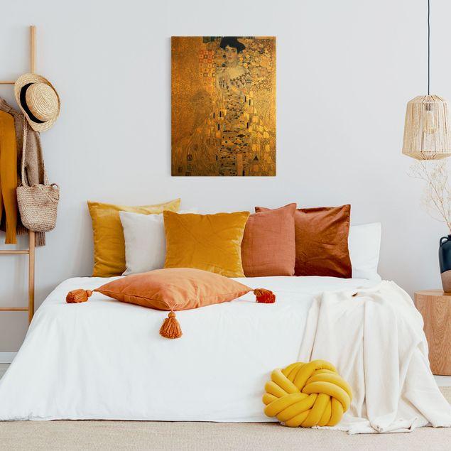 Leinwandbild Gold - Gustav Klimt - Adele Bloch-Bauer I - Hochformat 3:4