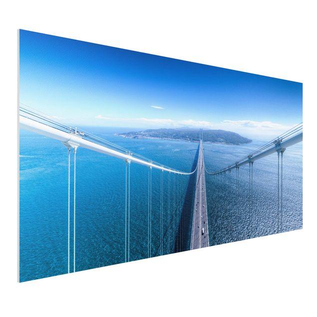 Forex Fine Art Print - Brücke zur Insel - Querformat 1:2