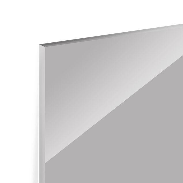 Glas Spritzschutz - Achatgrau - Querformat - 4:3