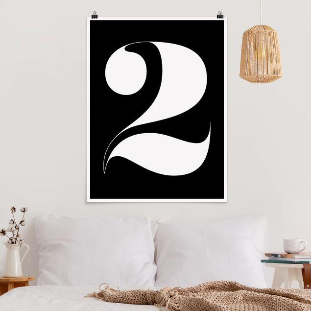 Poster - Antiqua Zahl 2 - Hochformat 3:4