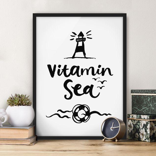 Bild mit Rahmen - Vitamin Sea - Hochformat 3:4