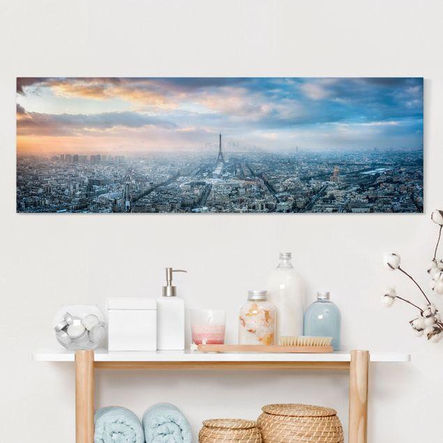 Leinwandbild - Winter in Paris - Panorama 3:1