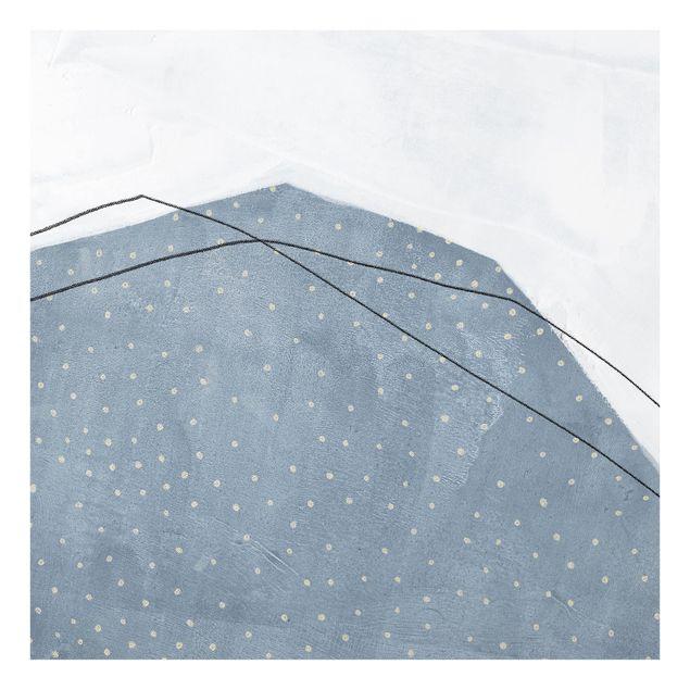 Glas Spritzschutz - Punkte im Dialog IV - Quadrat - 1:1