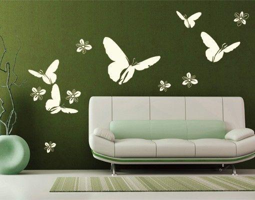 Wandtattoo Schmetterling No.UL141 Frühlings Grüsse