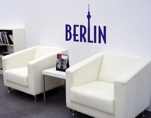 Berlin Wandtattoo Schriftzug - No.SF340 Berlin Wandtattoo