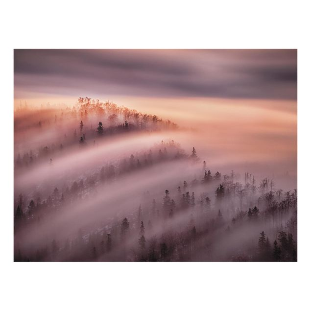 Glas Spritzschutz - Nebelflut - Querformat - 4:3