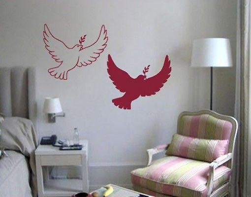 Wandtattoo Vögel No.335 Tauben