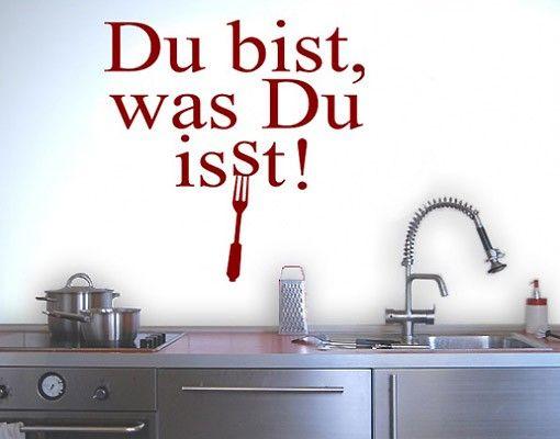 Wandtattoo Sprüche - Wandsprüche No.BR144 du bist was du isst