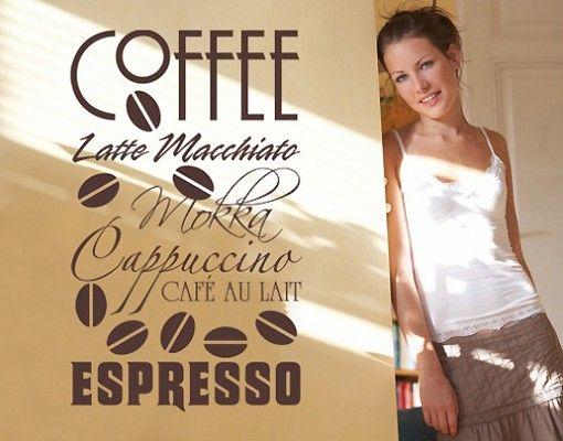 Wandtattoo Sprüche - Wandworte No.SF168 Coffee III