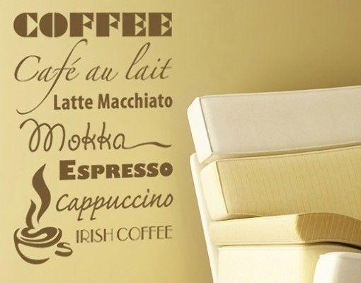 Wandtattoo Sprüche No.AU4 coffee