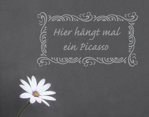 Wandtattoo Sprüche - Wandsprüche No.SF121 Picasso 2