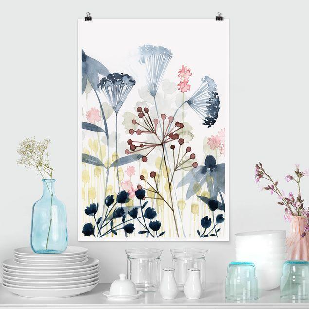 Poster - Wildblumen Aquarell I - Hochformat 3:2