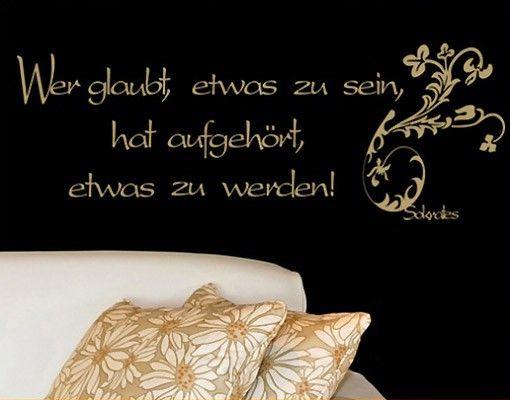 Wandtattoo Zitate - Wandzitate No.241 Sein & Werden