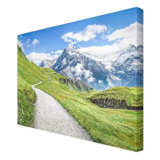 Leinwandbild - Grindelwald Panorama - Querformat 3:2