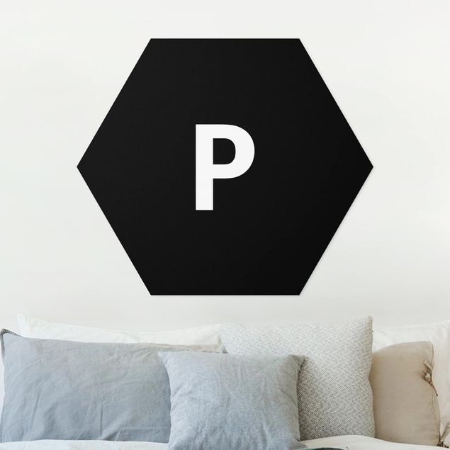 Hexagon Bild Forex - Buchstabe Schwarz P