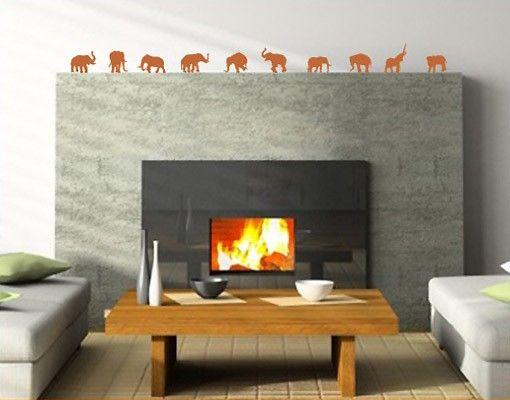 Wandtattoo Elefant No.88 Zehn Elefanten