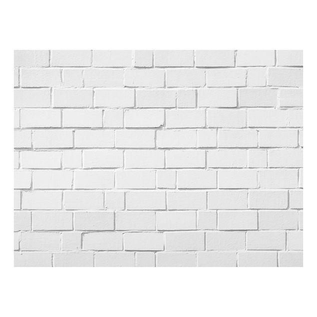 Glas Spritzschutz - White Stonewall - Querformat - 4:3