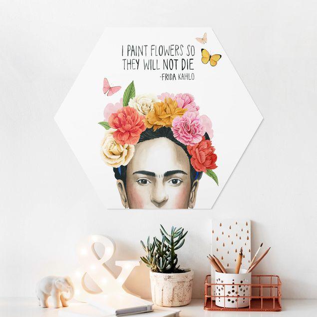 Hexagon Bild Forex - Fridas Gedanken - Blumen