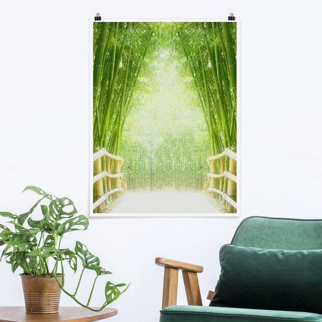 Poster - Bamboo Way - Hochformat 3:4