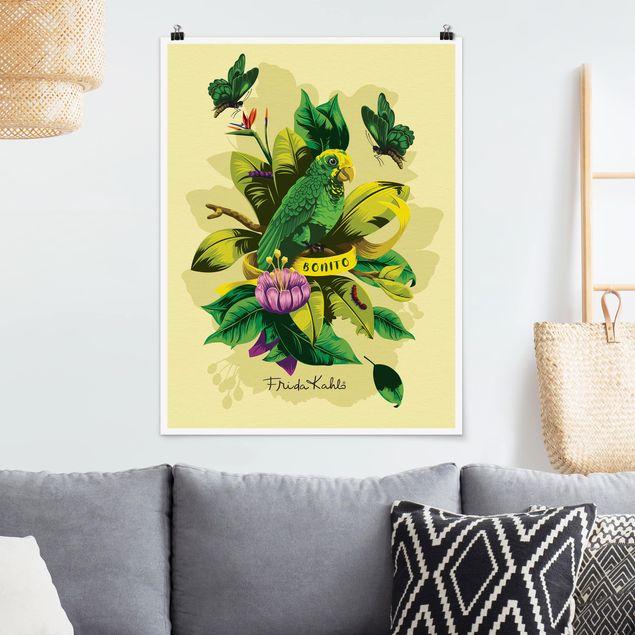 Poster - Frida Kahlo - Bonito - Hochformat 3:4
