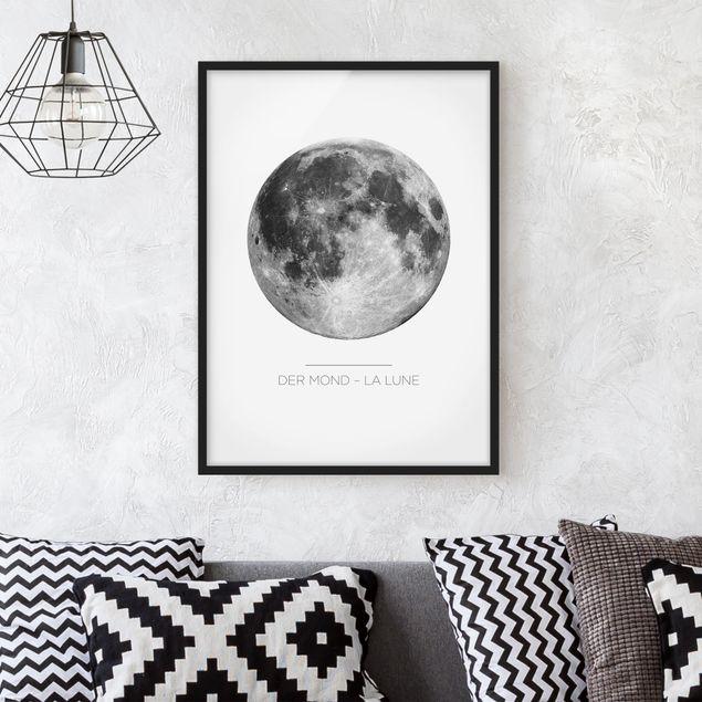 Bild mit Rahmen - La Luna - Der Mond - Hochformat 3:4