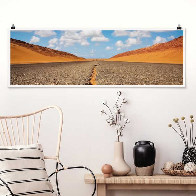 Poster - Wüstenstraße - Panorama Querformat