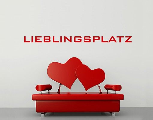 Wandtattoo Sprüche - Wandworte No.SF457 Lieblingsplatz