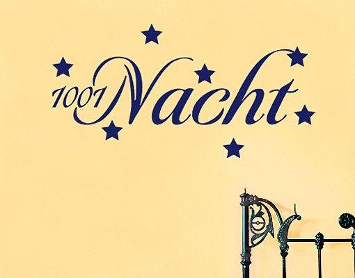 Wandtattoo Sprüche - Wandworte No.SF403 1001 Nacht