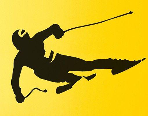Wandtattoo No.SF412 Skifahrer