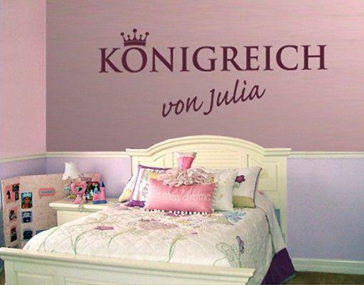 Wandtattoo Sprüche - Wandtattoo Namen No.SF425 Wunschtext Königreich I